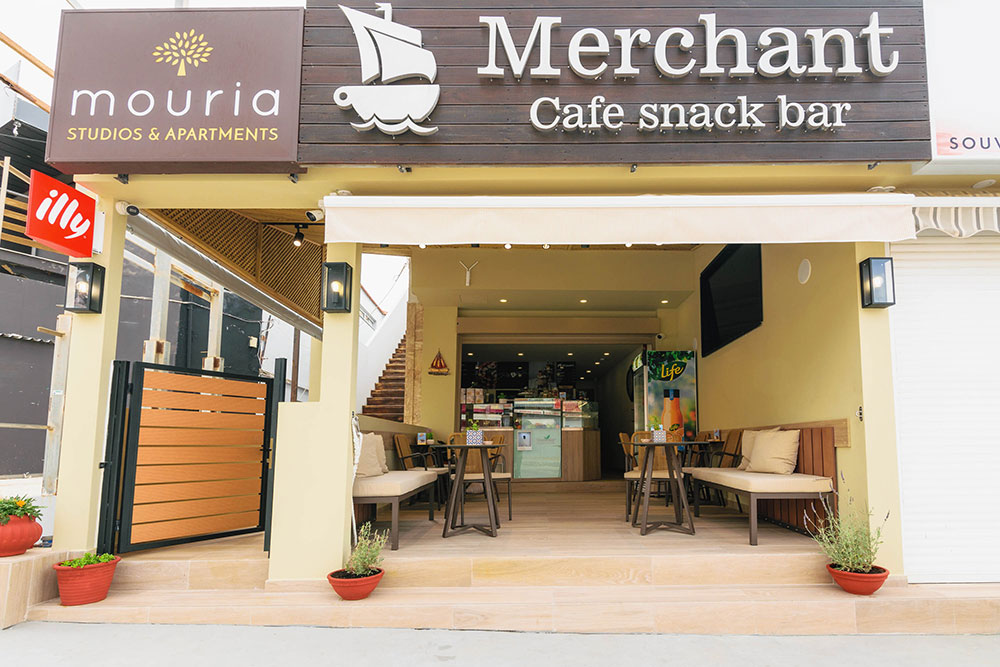 merchant cafe snack bar mouria laganas zante